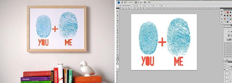 DIY-fingerprint-custom-artwork-as-Valentines-Day-gift