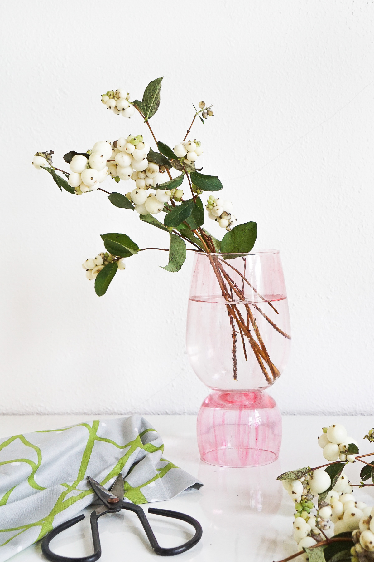 DIY vase made from stacked glasses