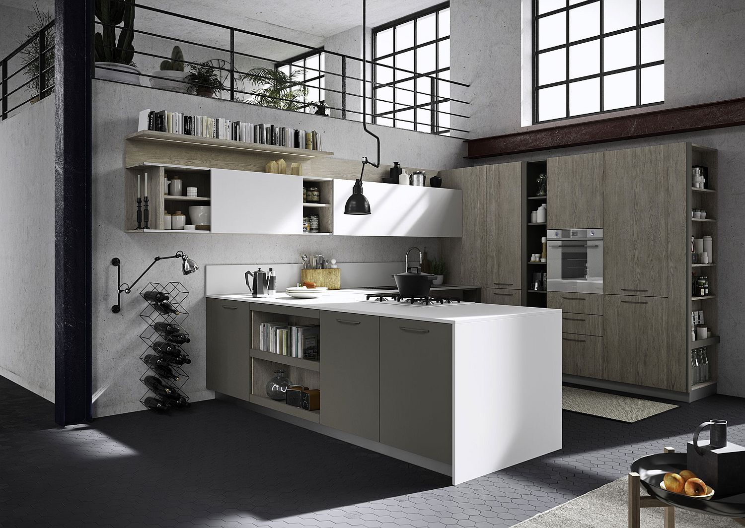 Definite-modular-structure-gives-the-Fun-kitchen-a-cool-modern-look Adaptable Kitchen by Snaidero