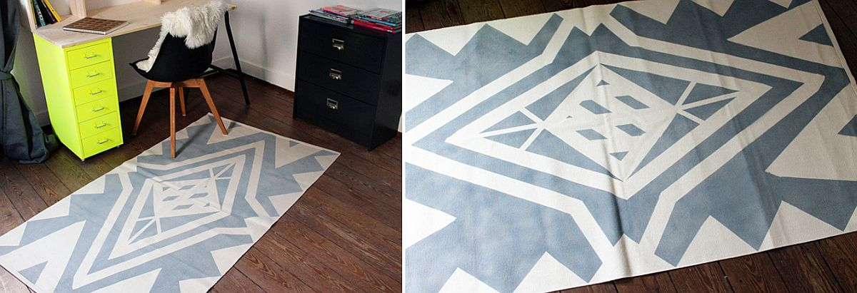Easy and modern DIY rug for contemporary home with neutral color scheme