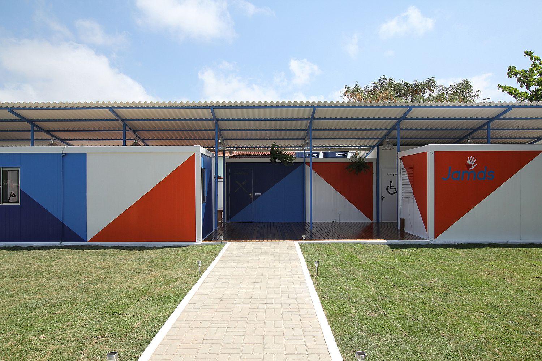 Exterior of the JAMDS Social Center in Brazil