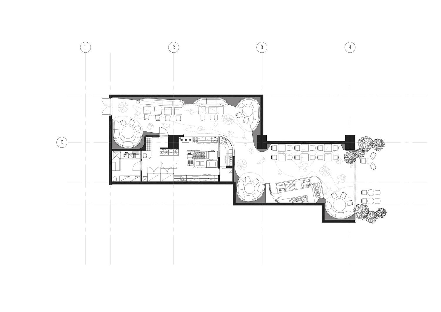 Floor plan of BLUFISH by SODA Architects