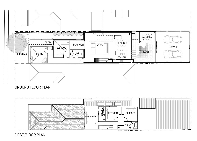 Floor plan of Brunswick House in Australia