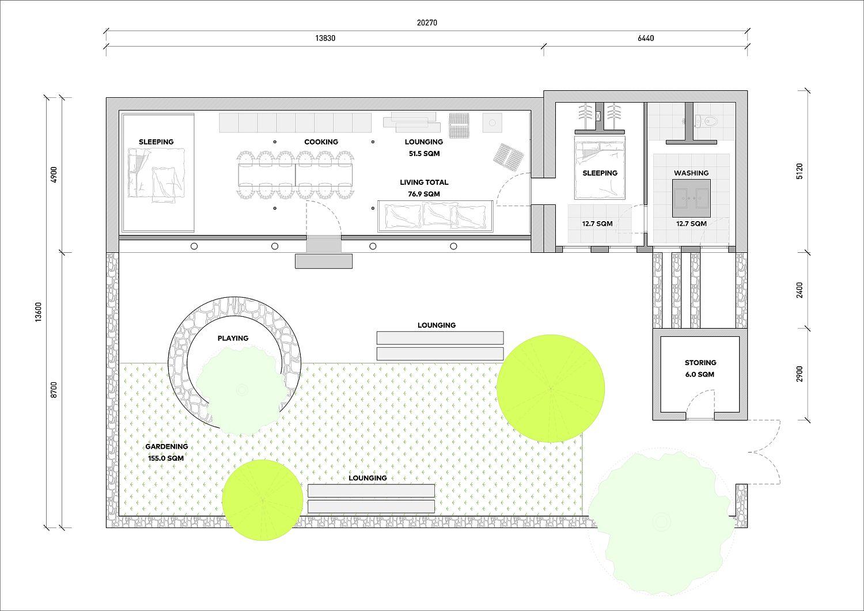Floor-plan-of-revamped-Studio-Cottage-in-China