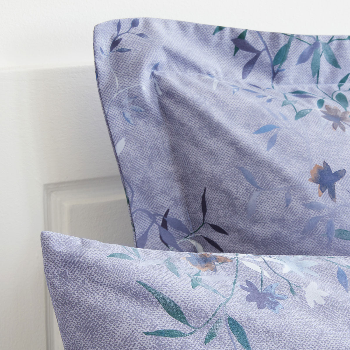 Lavender pillowcases with a floral print