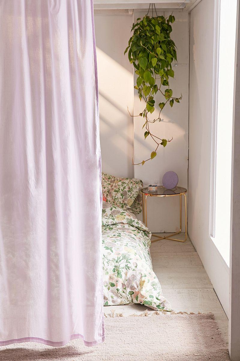 Lavender window curtain
