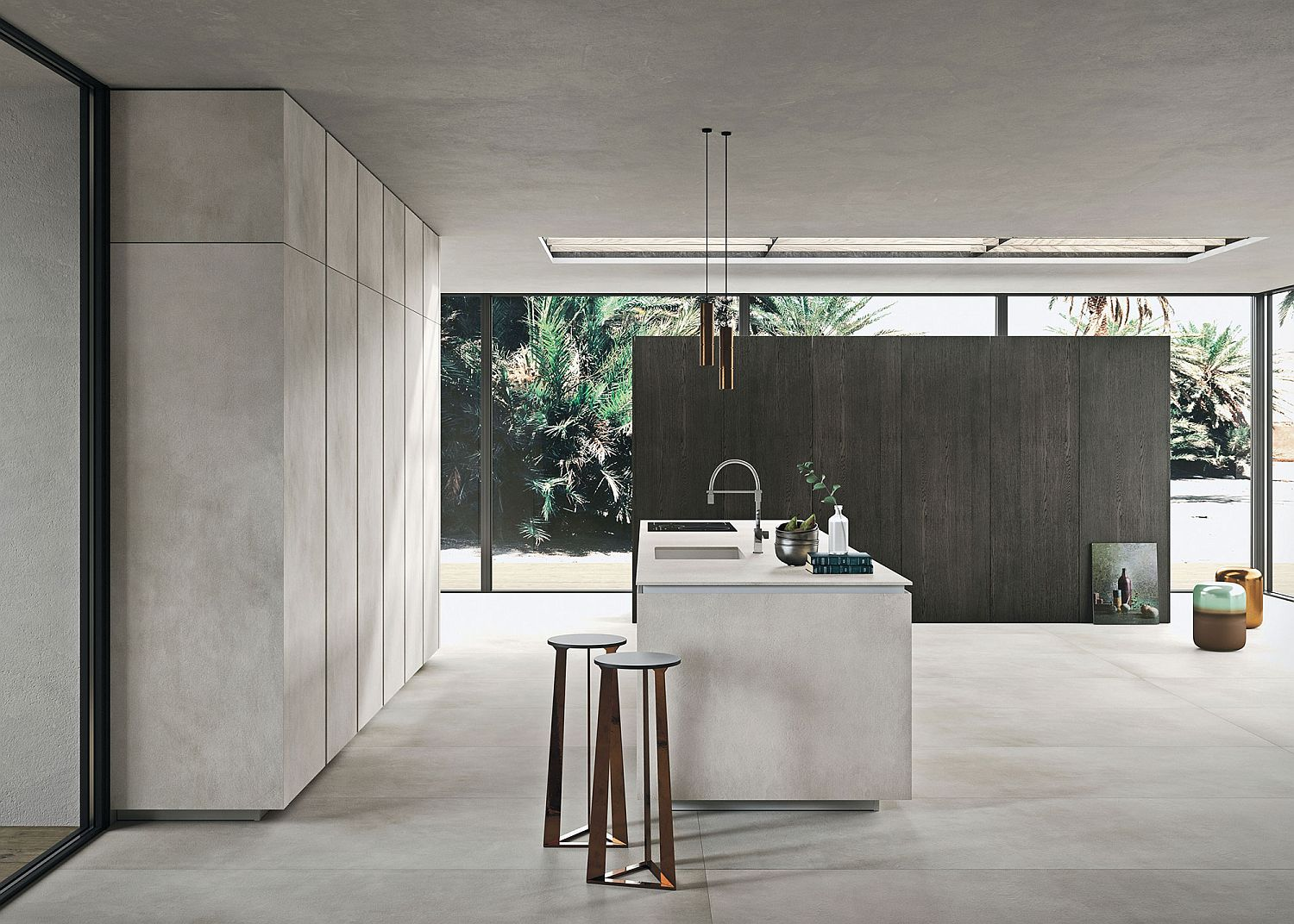 Minimal and modern Way Materia design from Snaidero