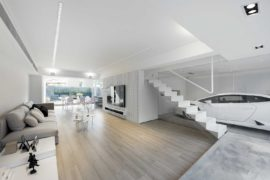 This Dream Urban House in Hong Kong has a Glorious Transparent Garage!