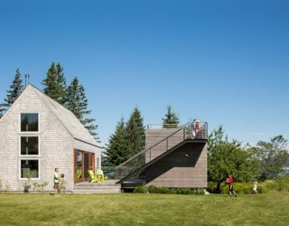 Old New England Farm Outbuilding Replaced with a Nifty Modern Masterpiece