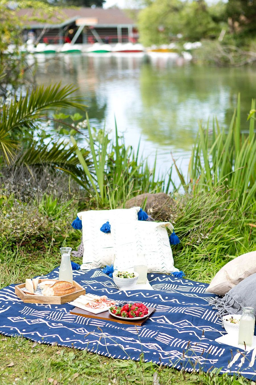 Mudcloth-Inspired Picnic Blanket