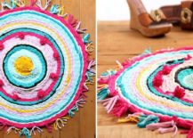 Old-t-shirts-turned-into-a-vivacious-DIY-rug-217x155
