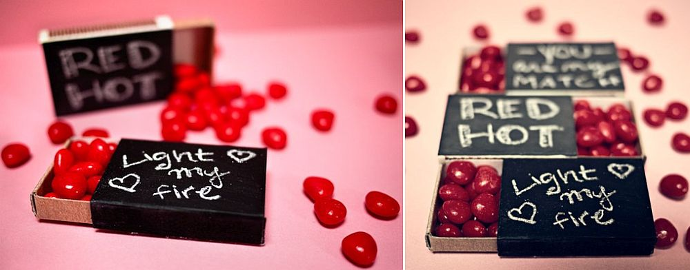 Red hot valentine DIY idea