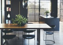 Reflective-pendant-lights-above-the-dining-table-act-as-eye-catching-scluptural-additions-217x155