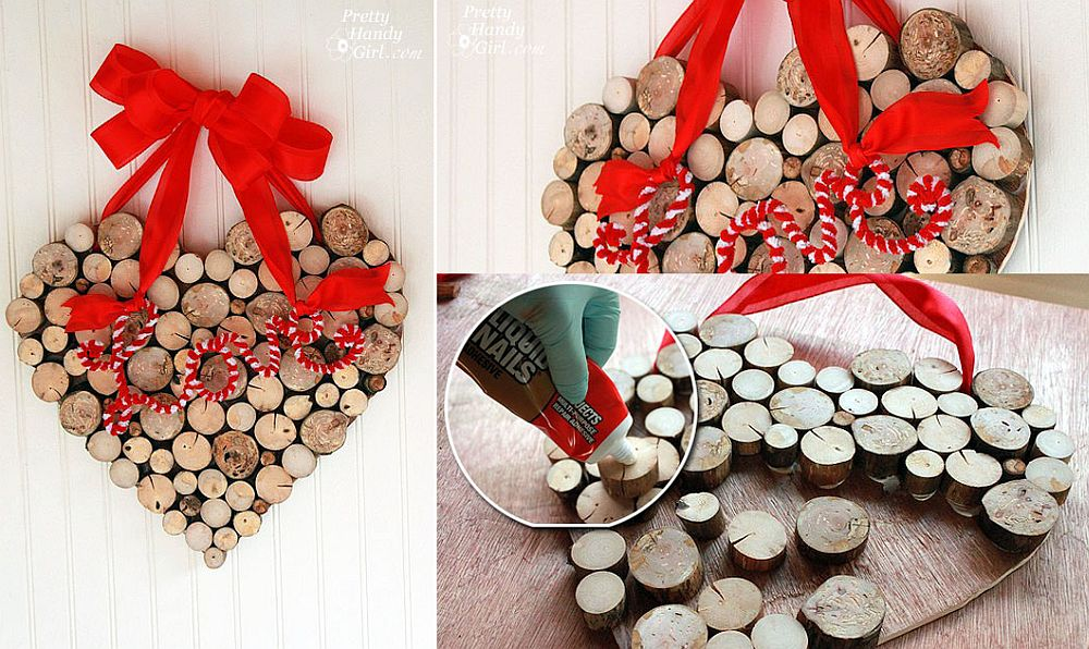 Rustic Valentine's Day Wreath from Tree Branches