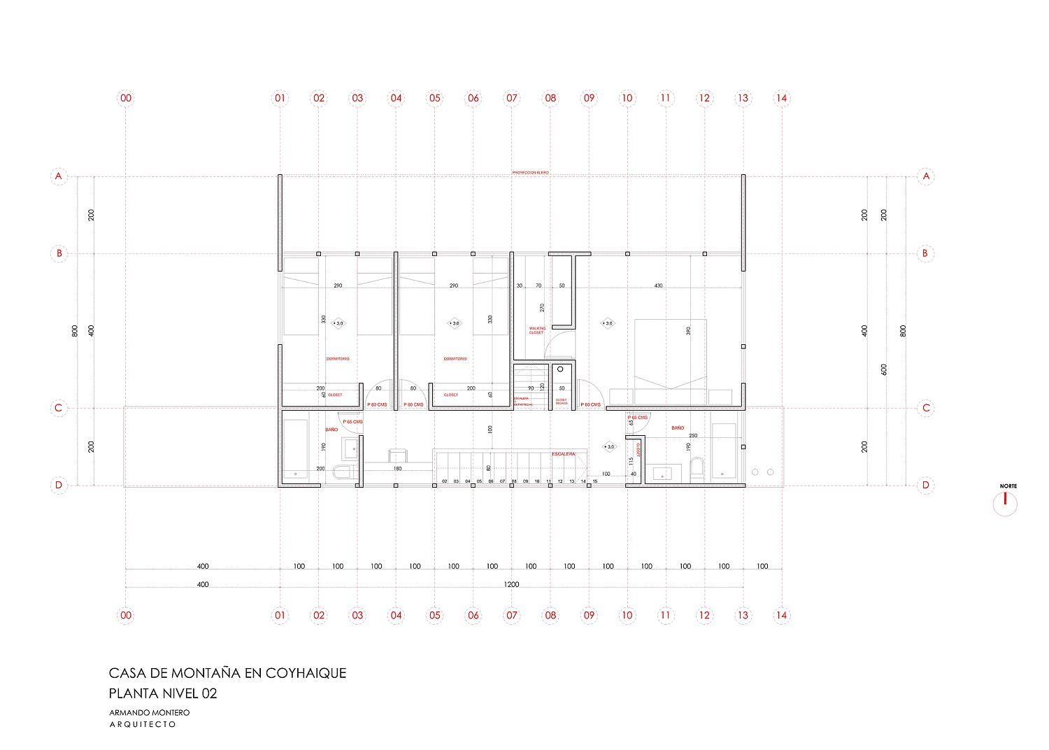 Second floor plan of the coy Mountain House