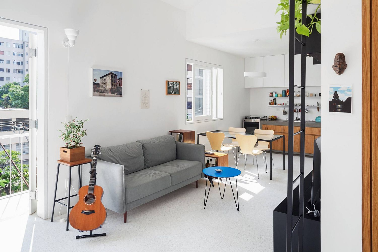 Simple and elegant living space of the small apartment