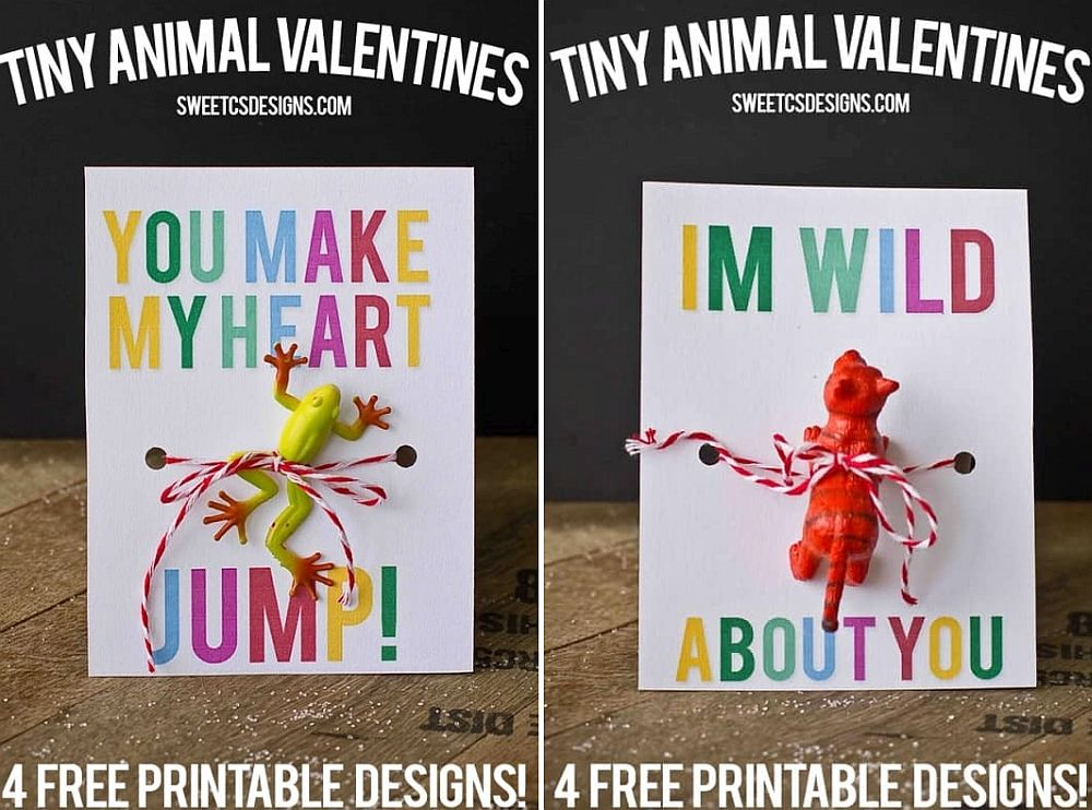 Tiny animal valentines perfect for boys DIY