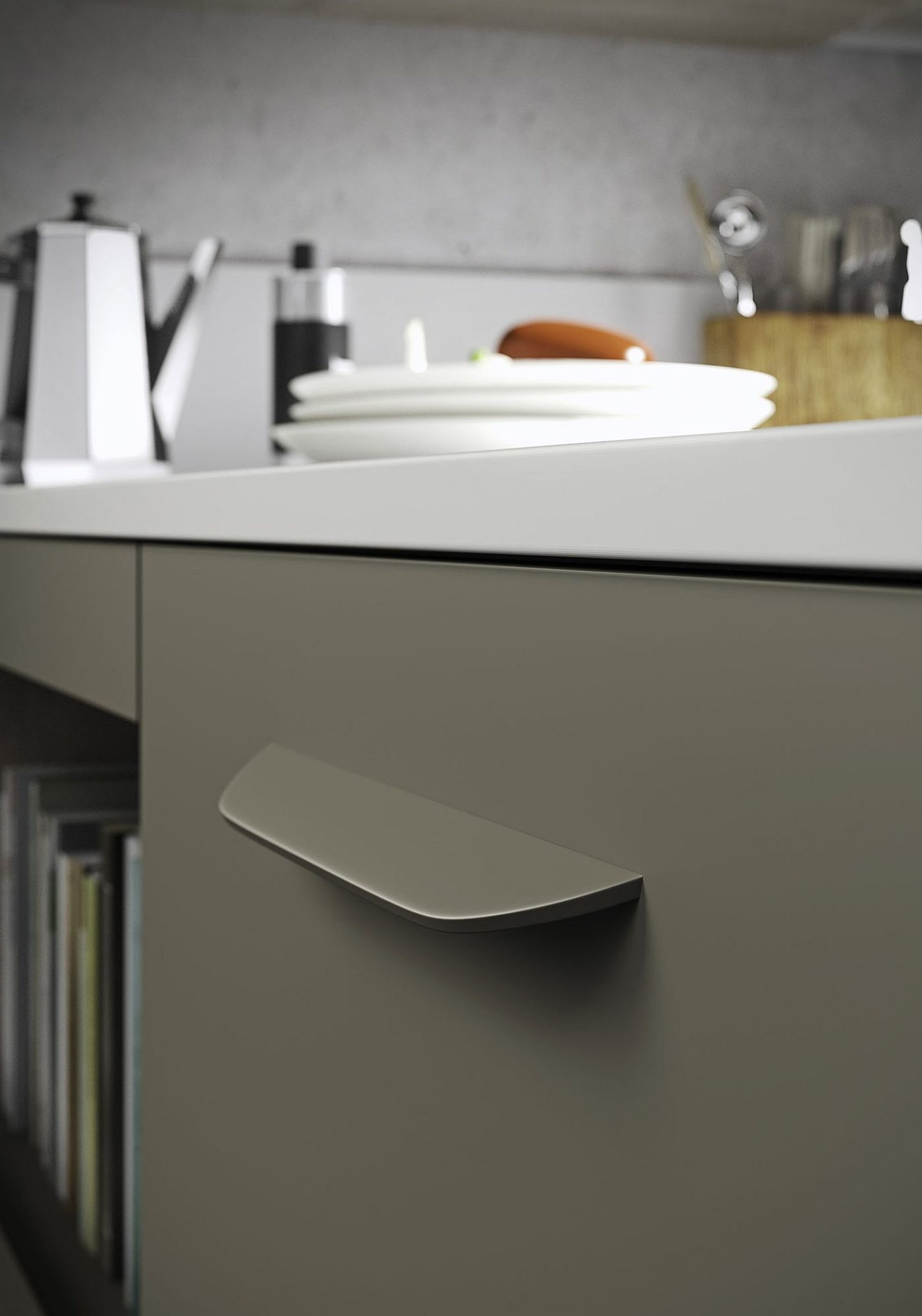 Unique-handle-design-of-the-Fun-kitchen-cabinets