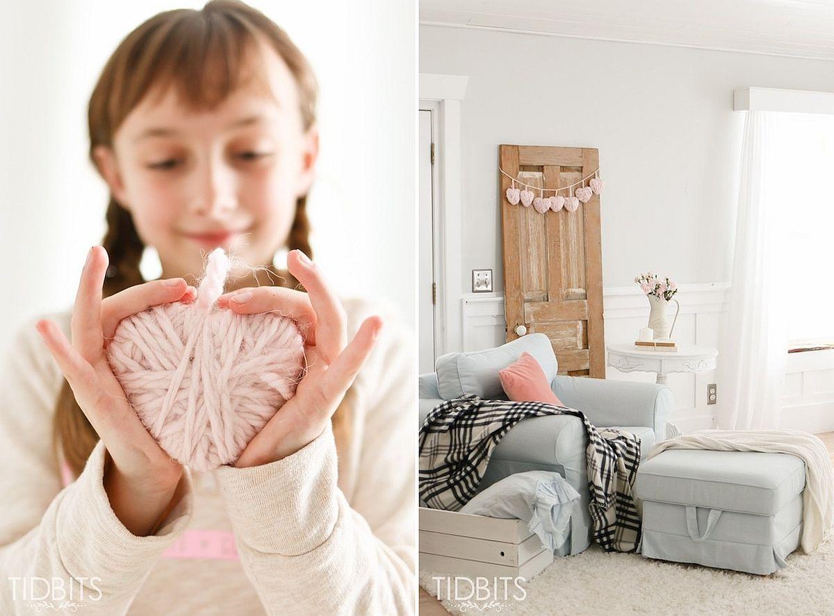 Valentine Yarn Heart DIY