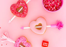 Valentine-donuts-with-paper-arrows-217x155