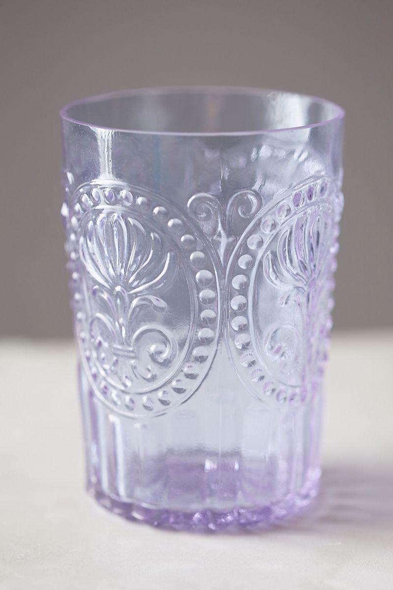 Vintage-style lavender tumbler