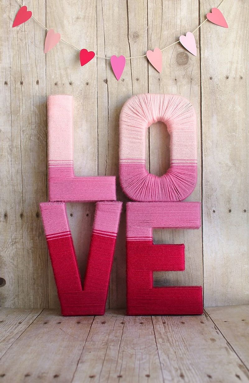 Vivacious Love Yarn Letters that are homemade