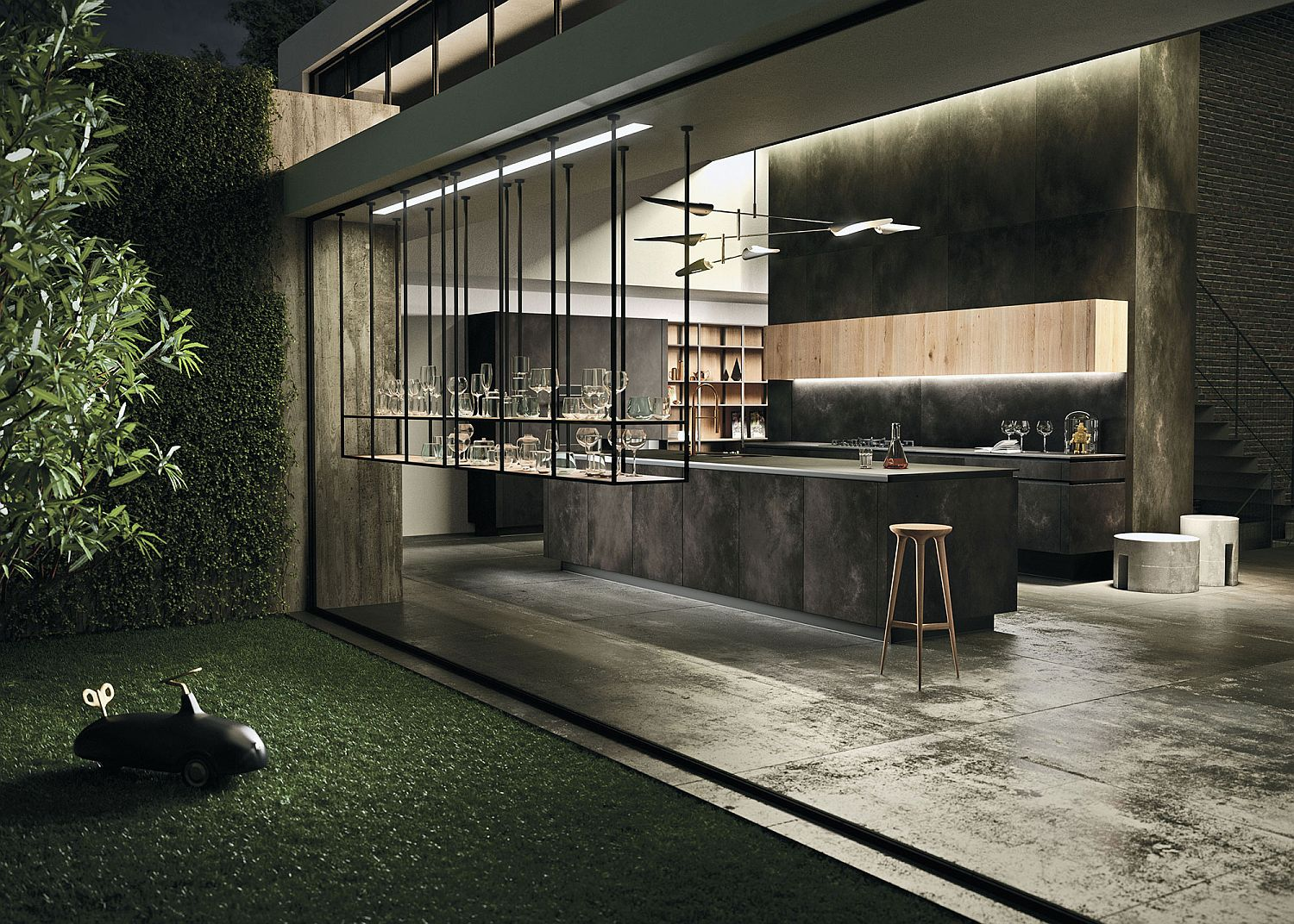 Well-defined proportions of the kitchen make it an aesthetic delight