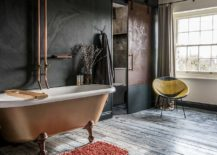 Contemporary-bathroom-in-white-and-gray-with-a-stunning-copper-bathtub-217x155