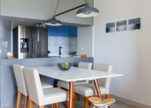 Contemporary-dining-room-in-white-next-to-the-kitchen-in-blue-and-white-217x155