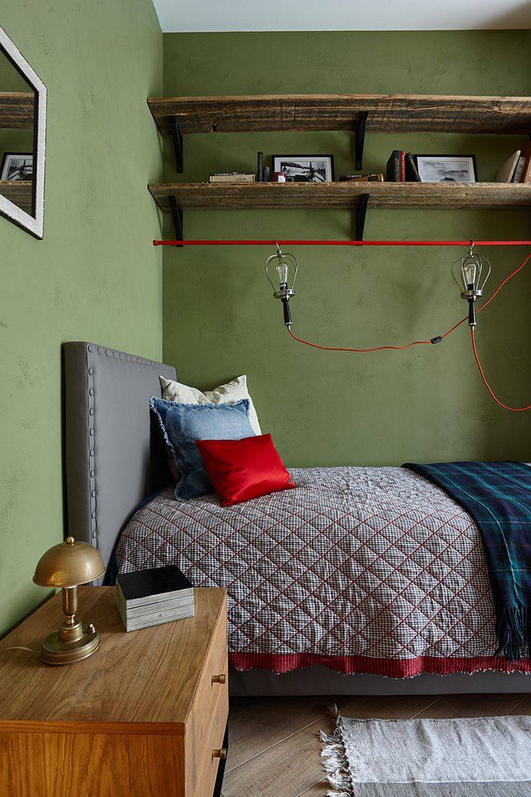 Creative bedside lighting for the industrial style kids' room