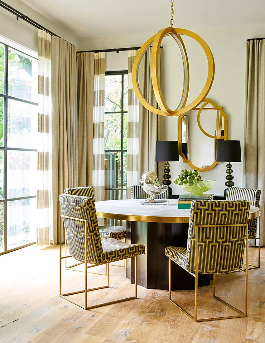 Curated-modern-dining-room-with-elegant-pops-of-gold