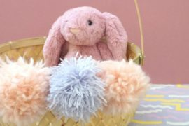 A DIY Pom Pom Easter Basket for Kids