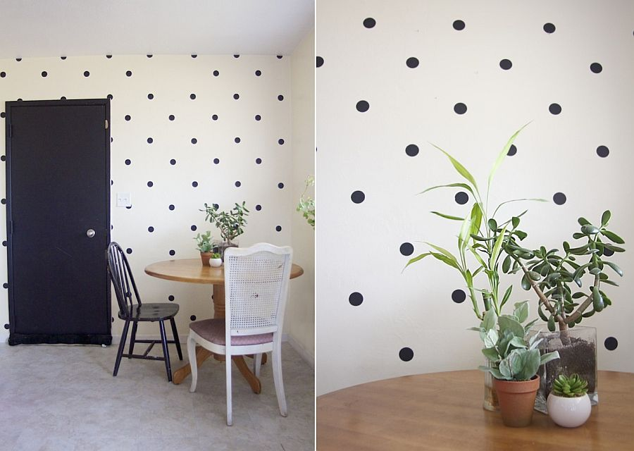 DIY Polka Dot Accent Wall Idea