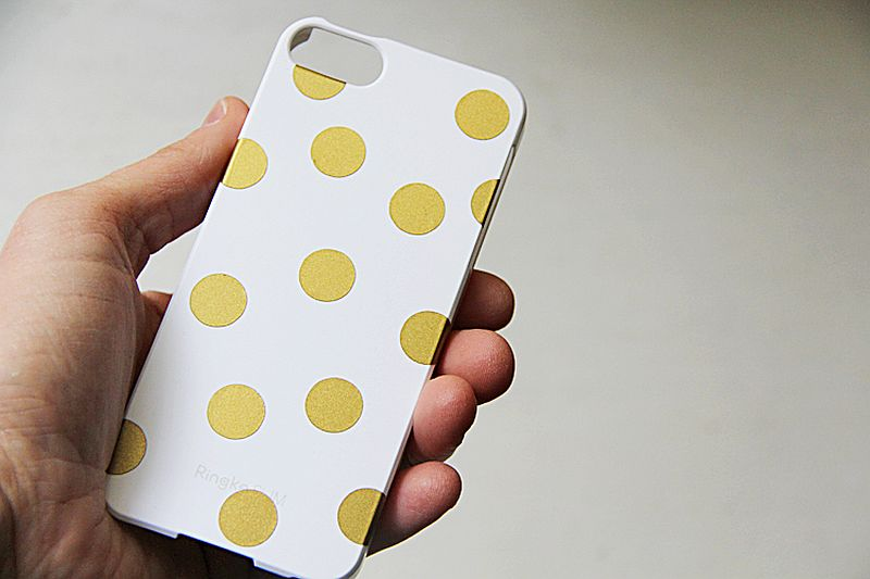 DIY iPhone Case with Polka Dot Design