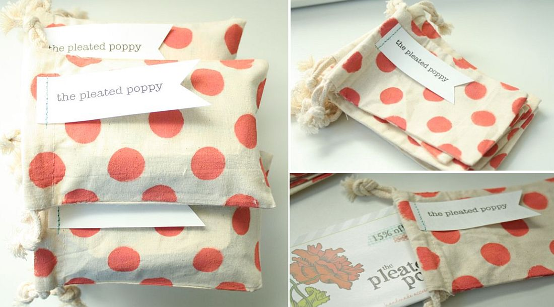 DIY polka dot gift bags