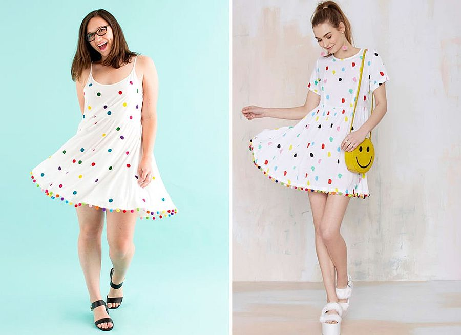 DIY dress with polka dots feels perfect for summer!