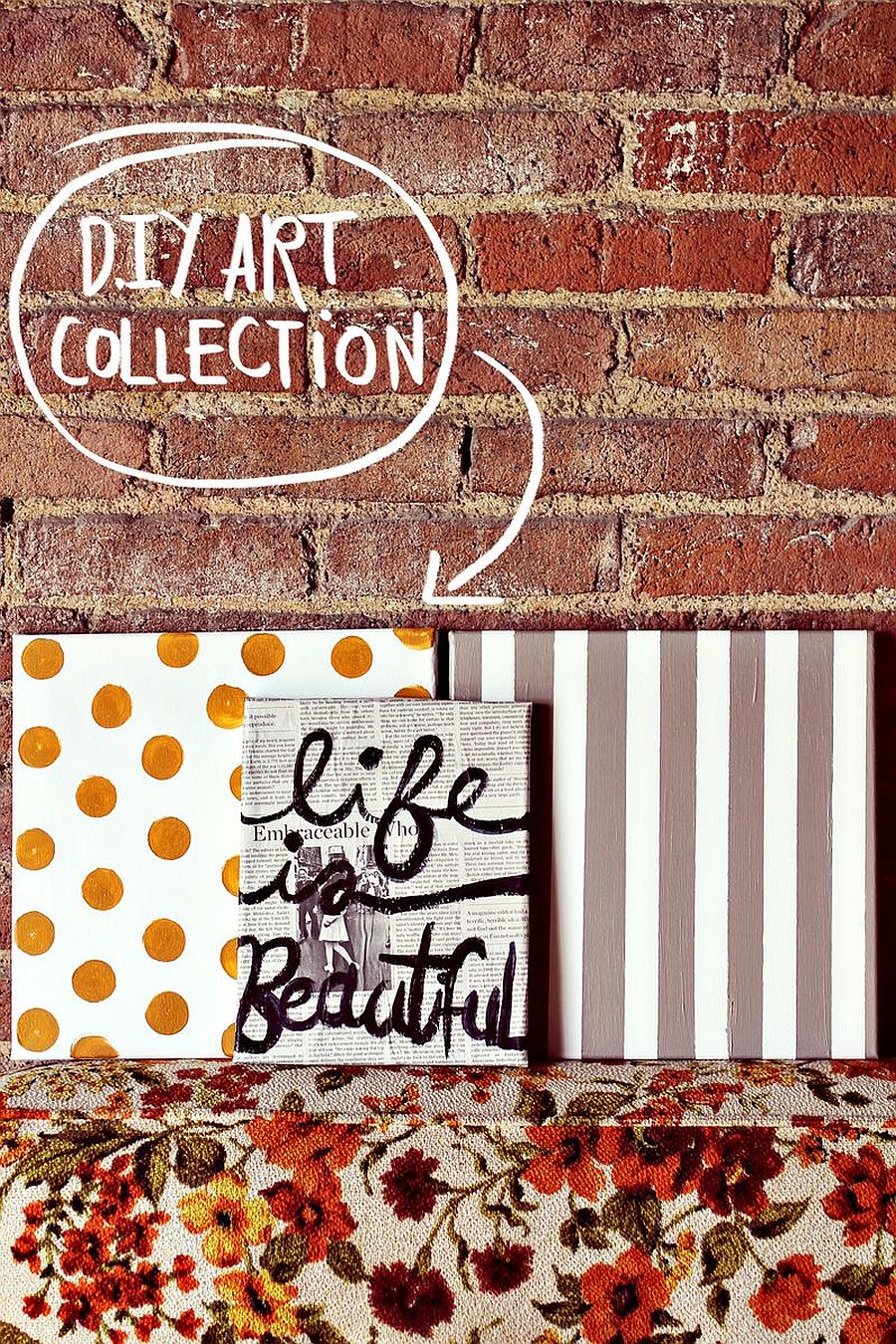 Dashing DIY Polka Dot wall art idea