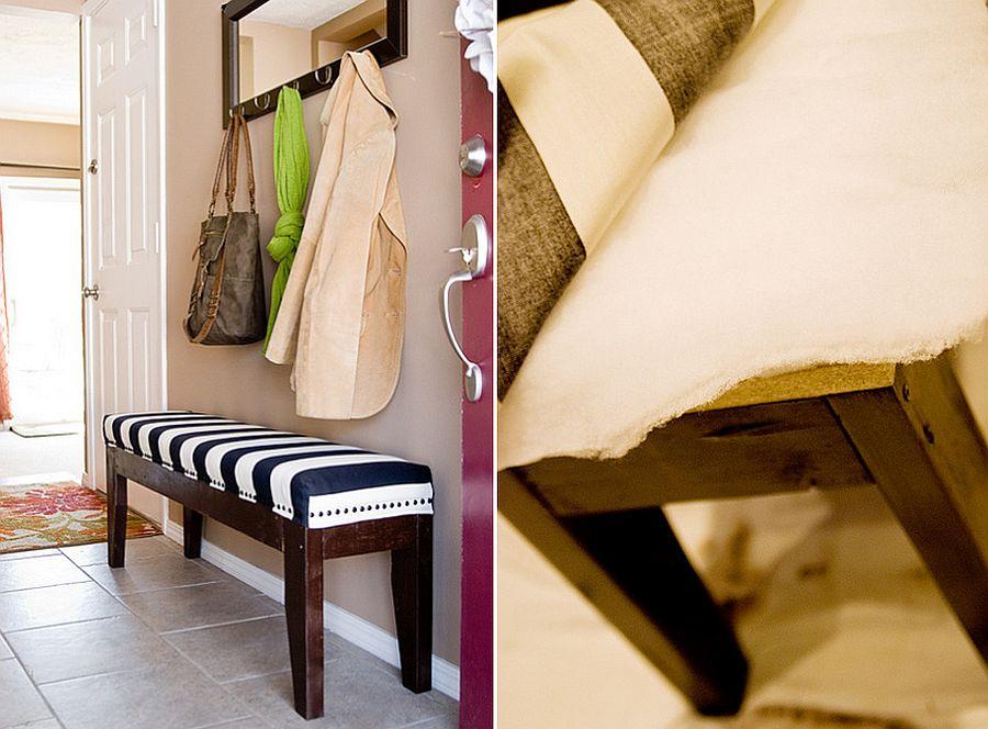 Easy DIY Upholstered Bench