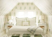 Fabulous-and-cozy-attic-bedroom-in-white-with-a-touch-of-green-217x155