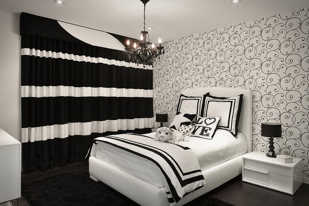 Falling in love with black and love bedroom again!