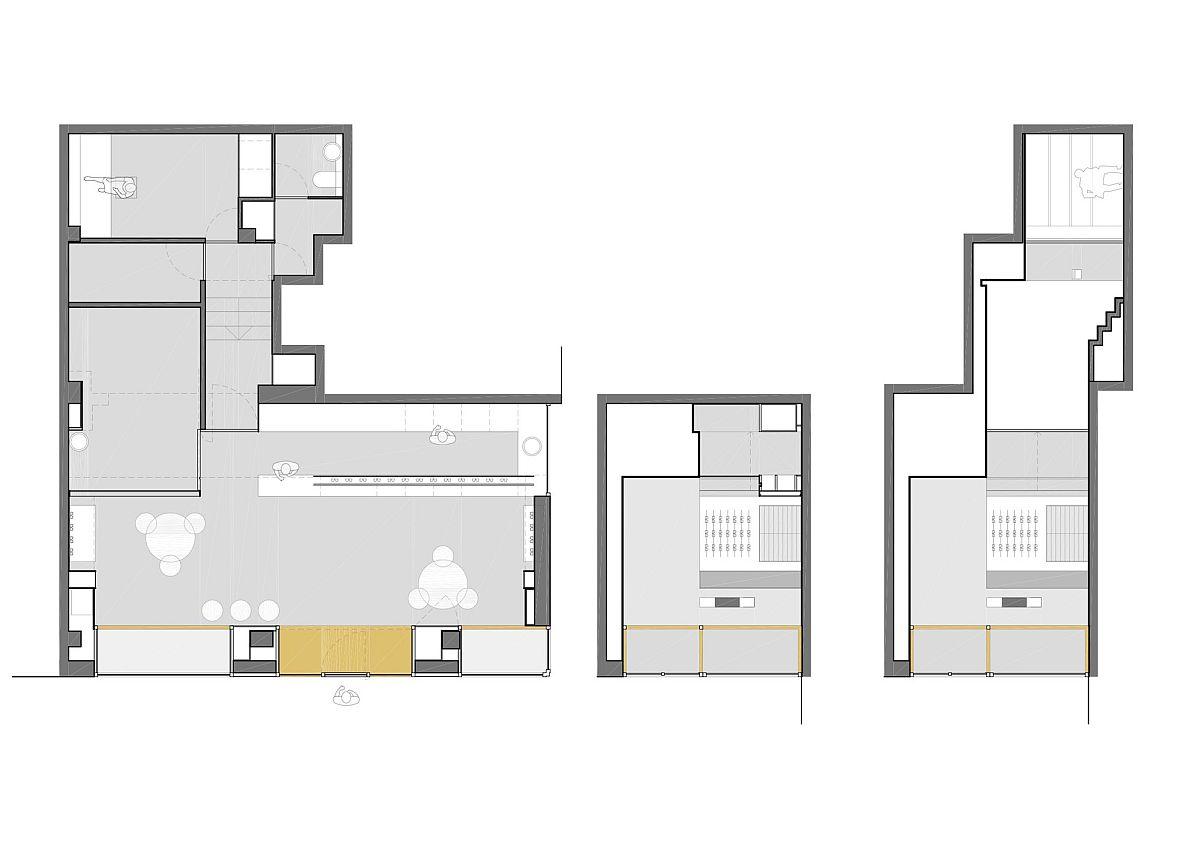 Floor plan of Optic Shop renovation in Spain