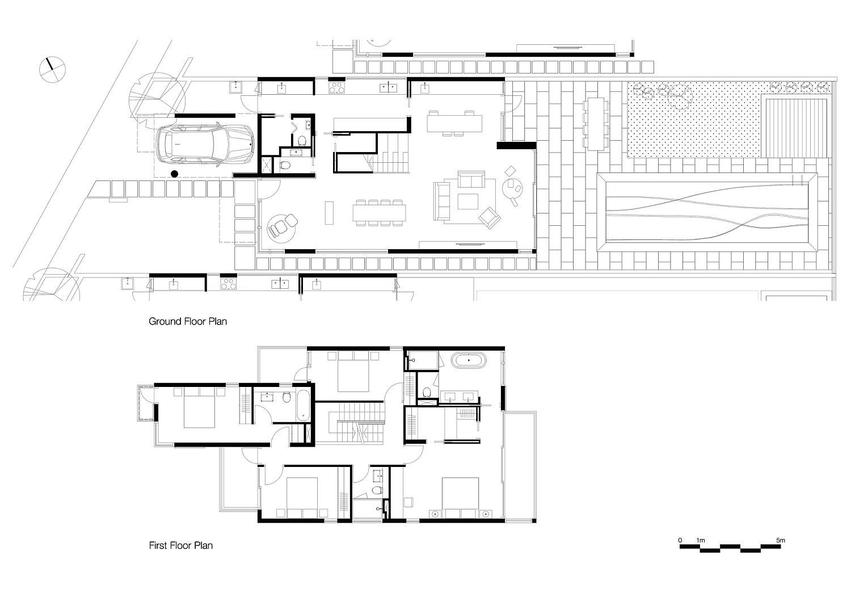 Floor plan of series of homes in Hong Kong