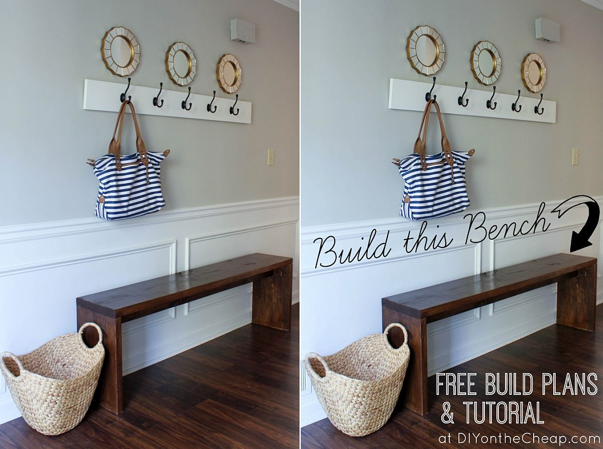 Gorgeous and minimal entryway bench idea