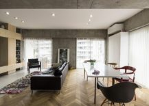 Herringbone-pattern-flooring-coupled-with-polished-surfaces-wood-and-concrete-217x155