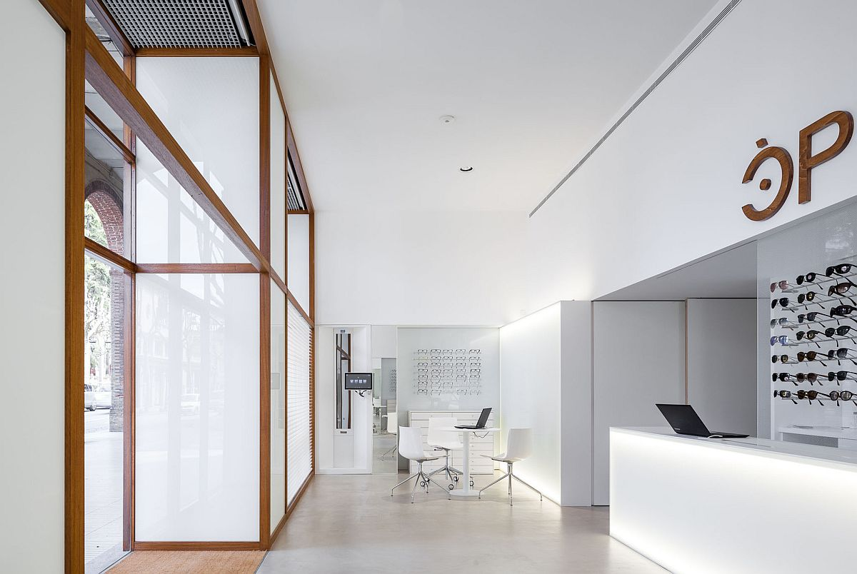Interior of the Optic Shop Renovation in Spain