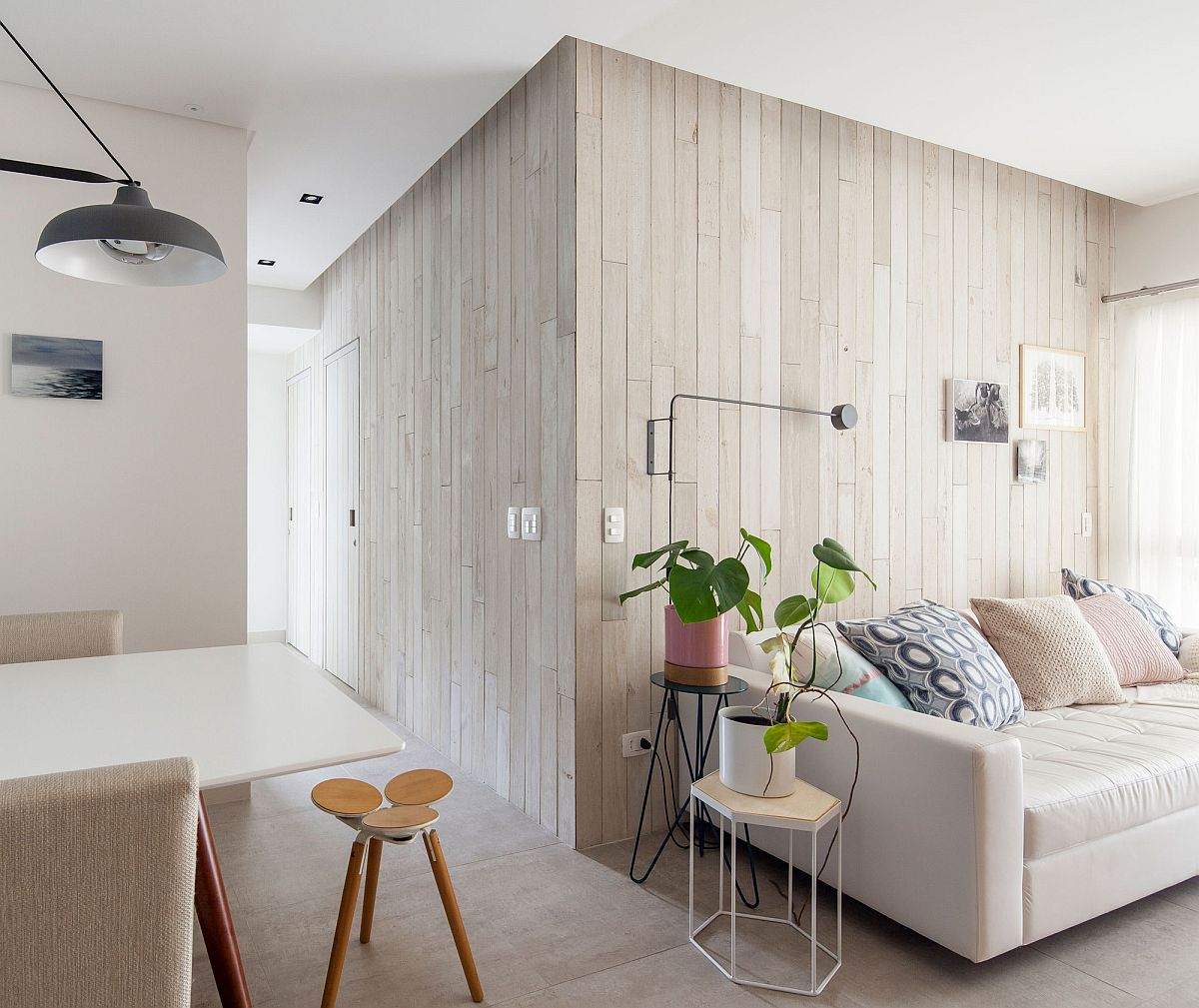 Light-filled and elegant interior of the modern Brazilian apartment
