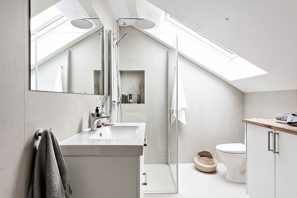 Light-filled bathroom with exquisite Scandinavian style