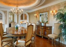 Lighting-and-hints-of-yellow-can-give-the-traditional-dining-room-a-golden-glow-217x155