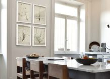 Lovely-framed-botanicals-in-the-contemporary-kitchen-replace-traditional-art-217x155