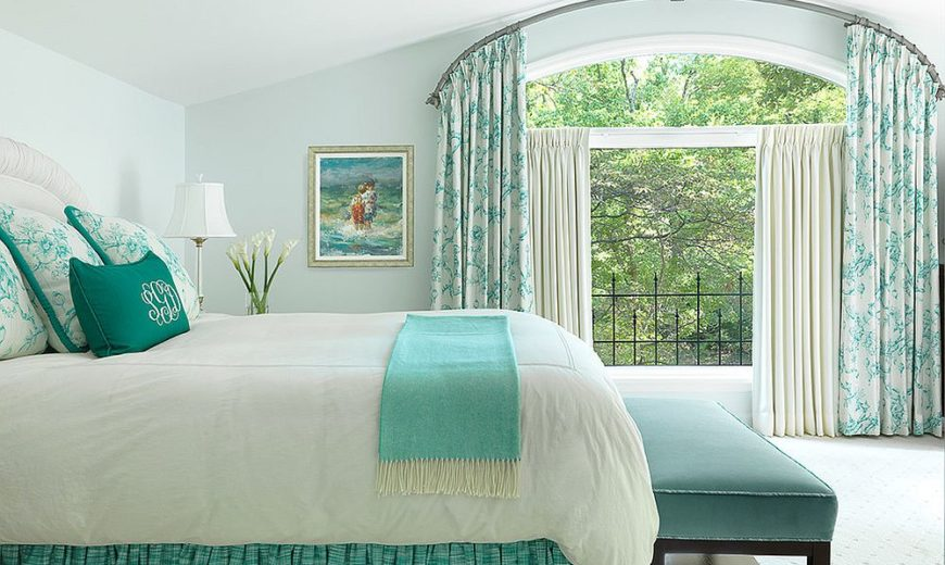 Spring 2018 Bedroom Decorating Trends: Serene, Green and Sparkly!